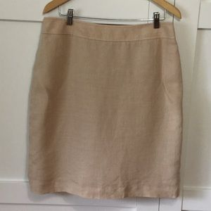 "Brooks Brothers ""346"" Linen pencil skirt size 14"
